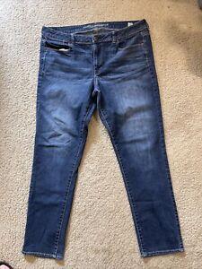 AE American Eagle Super Skinny Denim women jeans size 18 Long