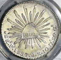 1837-Pi PCGS MS 62 Mexico 8 Reales Scarce Potosi Silver Coin POP 4/0 (20042802C)
