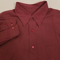 Ted Baker Long Sleeve Button Up Shirt Men's Size 3 Medium Red Plaid Checks