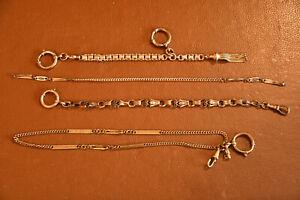 4 antike Uhrenketten Rotgold