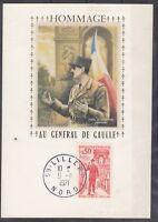 France 1971 Hommage De Gualle Minisheet CDS J3839