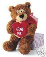 "Gund Valentines Day Hug Me Rodin Bear 13"" - NEW"