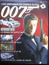 FASCICULE 4 JAMES BOND 007 POSTER BMW Z28 LE MONDE NE SUFFIT PAS