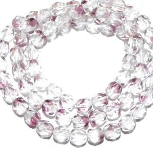 CZ3109 Crystal Amethyst Purple 6mm Fire-Polished Faceted Round Czech Glass Beads