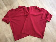 Boys Girls George red plain tshirt Age 4-5 And 5-6 Years VGC Short Sleeve