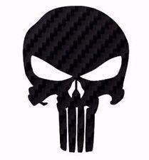 PUNISHER STICKER SKULL LOGO DECAL CARBON FIBER AMERICAN MADE USA BUY 2 GET1 FREE
