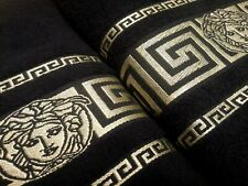 New 100% cotton Versace towel color Black