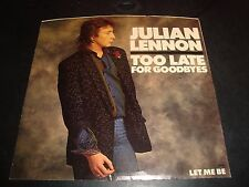"Julian Lennon Too Late for Goodbye 45 RPM 7"" Picture Sleeve Atlantic 7-89589 NM"