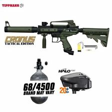 Tippmann Maddog Cronus Tactical Hpa Paintball Gun Marker Package Olive
