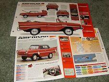1961 62 63 64-68 AMPHICAR SPEC INFO POSTER BROCHURE AD 770
