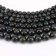 Natural Blue Tiger Eye Gemstone Spacer Loose Beads Jewelry Making DIY 4/6/8/10mm