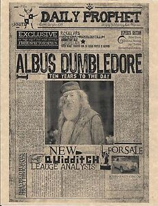Harry Potter The Daily Prophet Albus Dumbledore Flyer Prop/Replica