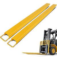 "72"" Steel Pallet Fork Extensions forklift lift truck slide on clamp FX 72"" 4.5"""