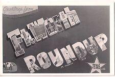 1954 FORT WORTH TEXAS Roundup Postcard RPPC TX