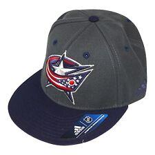 Columbus Blue Jackets NHL Men's Adidas Fitted Baseball Cap, Grey/Navy