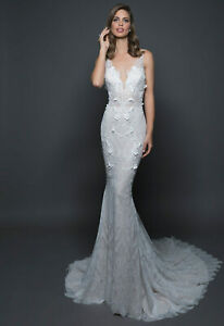 Love by Pnina Tornai 14553 ivory/champagne wedding dress 12 - check measurements