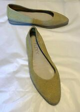 "The Flexx Women's Shoes Yellow Faux Snake Ballet Flat 1"" Heel Size EUR 39 US 8"