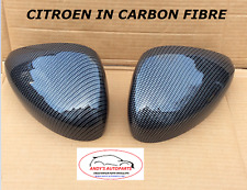 CITROEN C3 / DS3 09 ONWARDS PAIR OF WING MIRROR COVERS IN CARBON FIBRE HYDRO DIP