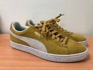 Puma Suede Men's Yellow Lace Up Trainers UK 9   HO20