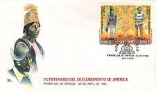 Chile 1990 FDC V Centenario del Descubrimiento de America