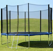 Powert 14' Trampoline with Safety Enclosure Net & Ladder 14Ft-Read to ship