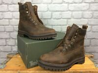 TIMBERLAND MENS UK 9 EU 43.5 COURMA GUY BROWN LEATHER BOOTS RRP £170 AD NO LACES