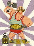 DMC Counted Cross Stitch Kit - Strongman Stanley - by Emily Peacock