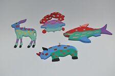 Wooden Christmas hand painted (rhino, shark, crab, donkey) ornaments