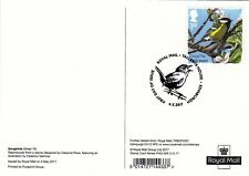 2017 SONGBIRDS REAR FDI PHQ CARDS SET OF 10. No 428 TALLENTS HOUSE HANDSTAMPS