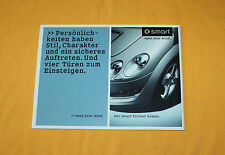 Smart Forfour 2003 Prospekt Brochure Depliant Catalog Folder Prospect