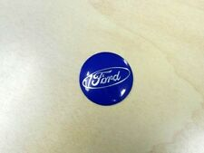 Personal Steering Wheel Horn Button - Black with Blue Emblem & Silver Ford Logo