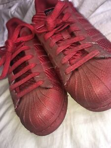 Men's Adidas Superstar Trainer Uk Size 8 Red