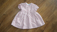 Mayoral white pink pinafor occassion dress for a girl 12-18 months 86cm