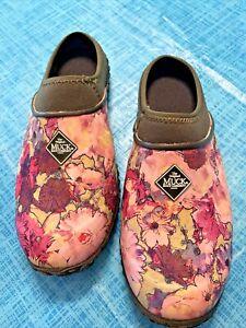 Muck Boots WMC-301 - Women's Muckster II Clog - Rosin/Capulet/Floral Size 7 Muck