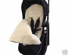 GOOSEBERRY FOOTMUFF PRAM SEAT LINER 2in1 COSY TOES Lambs Wool Universal fit