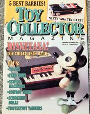 TOY COLLECTOR MAGAZINE NOV/DEC 1992; DISNEYANA, 50S TIN CARS, TRAINS,COWBOY BIKE