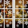 Snowflake Window Vinyl Clings Christmas Stickers - Reusable Decorations