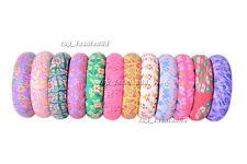 Wholesale 12pcs FIMO Polymer Clay Flower Women/Girl's Bangle Bracelets FREE