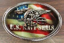 NAVY SEALS/ US Flag Epoxy Belt Buckle - NEW