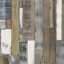 Embossed Wood Panel Effect Textured Wallpaper Wooden Beam Rustic Industrial