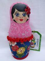 "Handmade cloth 9"" Russian Matryoshka doll. Brand new"