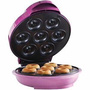 Brentwood Mini Donut Maker Machine Non-Stick Pink