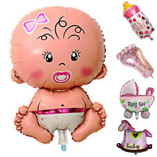 5Pc/set Baby Shower Toys Cute Girl Foil Balloon Christening Birthday Party Decor