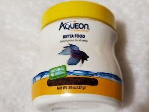 Aqueon Betta Food  0.95 oz (27 g)   Exp Jan 2023