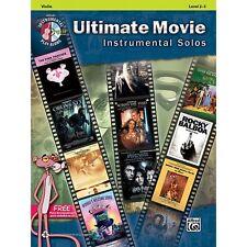 Ultimate Movie Instrumental Solos: Violin, Book & CD