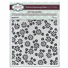 Creative Expressions Dotted Daisies PinPoint Embossing Folder EFPP-011