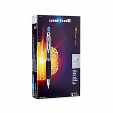 uni-ball Signo 207 Retractable Gel Pen, Micro Point, Blue Ink, 12-Count