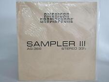 American Gramaphone AG-366 ~ Sampler 3 ~ New Unopened