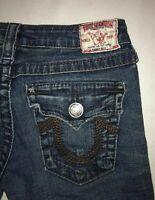 Women's True Religion Jeans Size 27 Flap Pocket Bootcut Denim