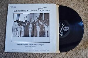 Everything's Comin' Up European Roses shrink Local Private Record lp VG++